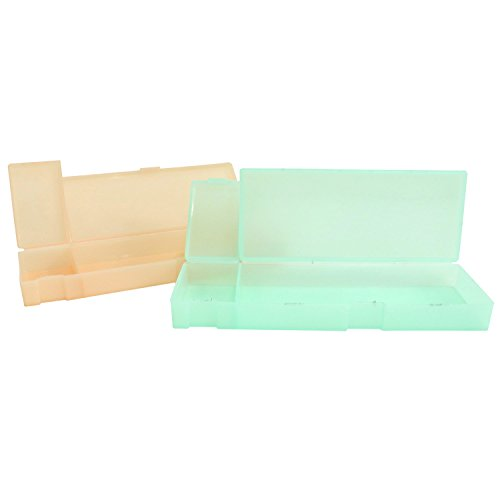 HUELE Plastic Translucent Frosted Storage pencil Case Simple Mulit-Purpose Pencil Case , 2 Park (Pen Plastic Translucent)