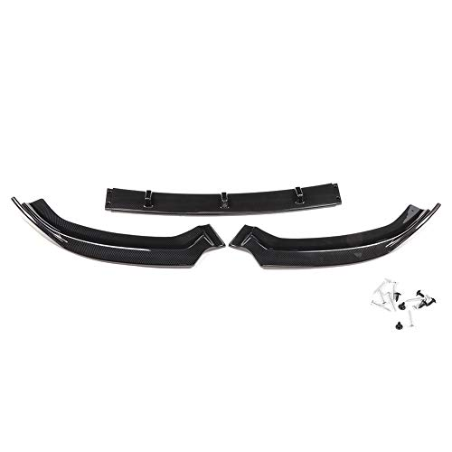 Front Bumper Lip Spoiler for S3 Style Front Bumper Lip Body Kit Spoiler for Audi A3 S-Line 8V 2017-2018(Carbon Fiber)