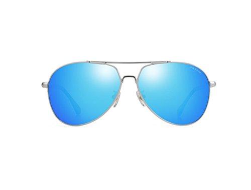Film De Espejo Plata Moda Gafas De De Circular Hombres Framed Película Color Polarización Enmarcado De NHDZ Silver Reflectante Reflective Gafas vHYfqqB