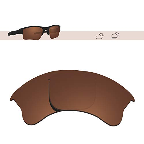 (Glintbay 100% Precise-Fit Replacement Sunglass Lenses for Oakley Flak Jacket XLJ - Polarized Brown)