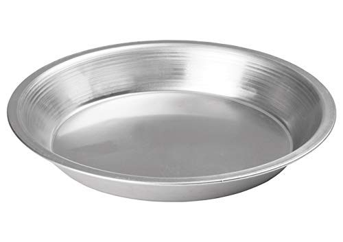 Winco APPL-8, 8'' Aluminum Round Pie Pan, Metal Baking Whooppie Plate, NSF