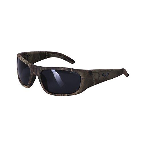 OHO Open Ear Hunting Bluetooth Sunglasses Headset with UV Impact Resistant Black Lens Camo - Bt Sunglasses