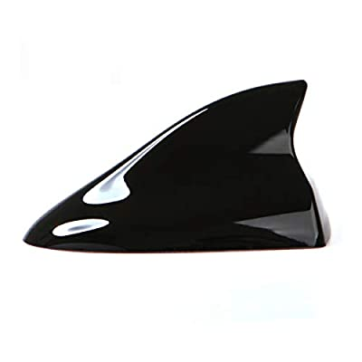 Ramble- Luxurious Quality, Shark Fin Antenna Car Styling, Automobile Radio Antena, SUV Roof Aerials Covers, Works for Mitsubishi Outlander, ASX and Grandis (Advanced Style, Black): Car Electronics