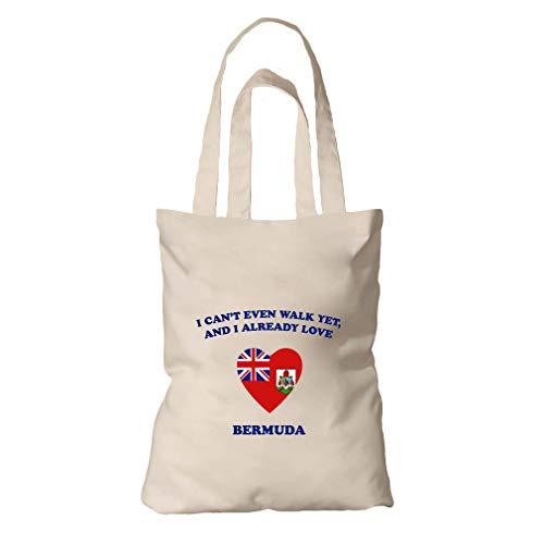 Can'T Even Walk Yet Already Love Bermuda Organic Cotton Tote Bag ()