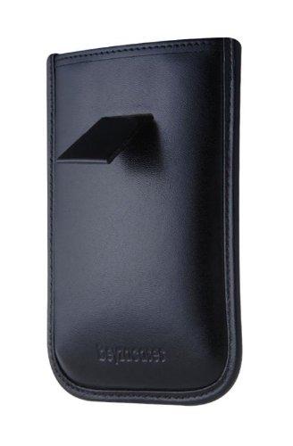 Beyza Road Line Slim Fourreau vertical de luxe en cuir avec sangle pour iPhone / iPod touch Noir-Léopard
