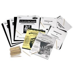 Nasco Scratch-Art Student Variety Classroom Pack - Arts & Crafts Materials - 9714735