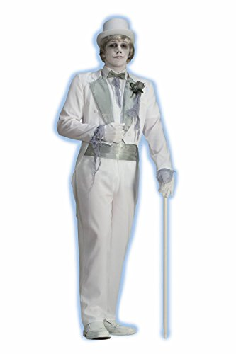 Victorian Ghost Groom Costume - Standard - Chest Size up to 42 (Movie Up Costumes)