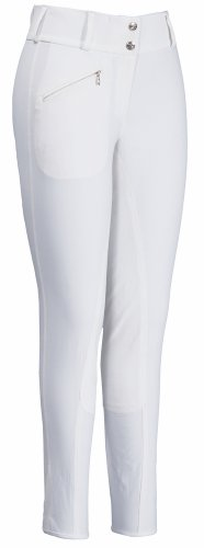 TuffRider Women's Kashmere Full Seat Breeches, White, ()