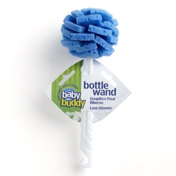 Baby Buddy 3 Piece Wand Scrubbing 360 Degree Cleaning Baby Bottle Brush, Blue (Dishwashing Bottle Sponges compare prices)