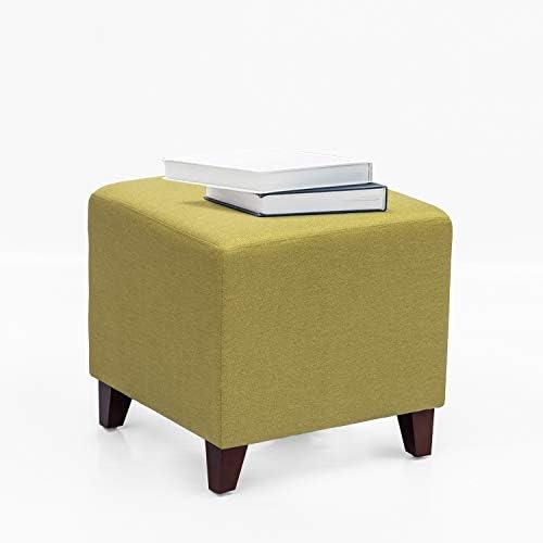 Adeco Simple British Style Cube Footstool