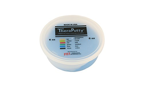 Therapeutic Ball Exercise (Theraputty Exercise Putty, Blue, 6 oz)