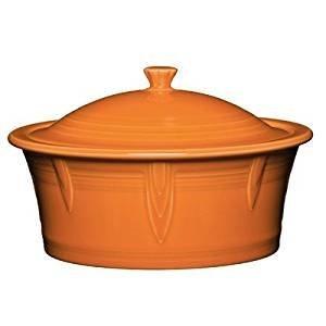 Homer Laughlin 325-1466 Covered Casserole, Tangerine
