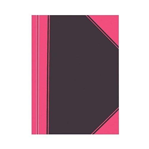 Business Din 283739 Herlitz-Quaderno a quadretti, formato A7, colore: nero/rosso