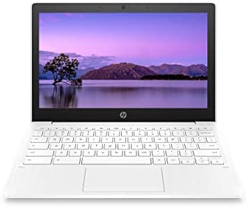 HP Chromebook 11-inch Laptop - Up to fifteen Hour Battery Life - MediaTek - MT8183 - 4 GB RAM - 32 GB eMMC Storage - 11.6-inch HD Display - with Chrome OS - (11a-na0021nr, 2020 Model, Snow White)