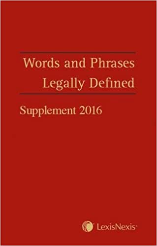 Words and Phrases Legally Defined 2016 Supplement
