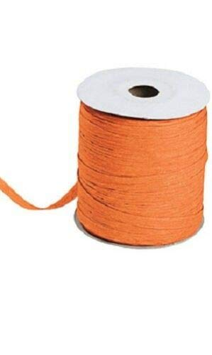 Orange Matte Raffia Ribbon Gift Wrap Wedding 1/2'' Wide 500 Yards Bow by retail-warehouse