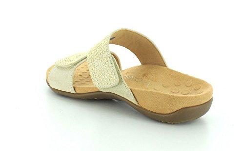 Vionic Womens 341 Samoa Rest Leather Sandals Gold