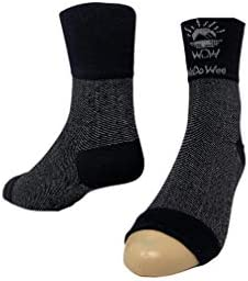 Wedowee Compression Foot Sleeve, Infused with CBD Oil, 8-15 mmHg Compression, 1 Pair Large