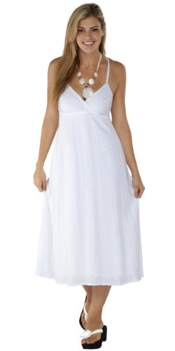 1 Embroidered White Womens Dress World Long Sarongs In Summer rnTrxOw