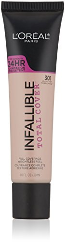 L'Oreal Paris Cosmetics Infallible Total Cover Foundation, Classic Ivory, 1 Fluid Ounce (Total Finish)