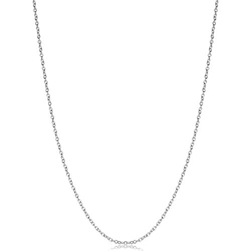 - Kooljewelry Sterling Silver 1.2mm Round Cable Chain (18 inch)