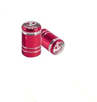 ORIGINALE MINI VALVOLA TAPPI cappucci protettivi Set Rosso VALVOLE in ALLUMINIO 36122447404