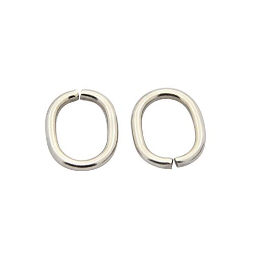 - B.D craft 100pcs 1311mm Diameter Stainless Steel Oval Open Jump Rings, Closed but Unsoldered Split Rings, Connector Loops for DIY Jewelry Keychain Making, 710mm Inner Diameter