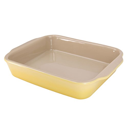 "American Bakeware 10'' x 8.5"" Rectangular Casserole Baker - Non Stick Ceramic - Heat Resistant to 400 °F - No Metals or other Harmful Materials - Safe for Oven, Microwave, Dishwasher - Made in the USA by American Bakeware"