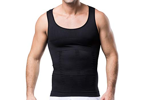 Sodacoda Körperformendes Nahtloses Herren Business Unterhemd - Kompression für Brust und Bauch