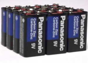 (24 Pack Wholesale Lot Panasonic Super Heavy Duty 9V Batteries)