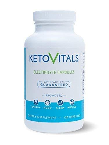 Keto Vitals Electrolyte Capsules | The Original Keto Electrolyte Supplement | Electrolyte Tablets | Eliminate Fatigue and Leg Cramps |Sodium, Potassium, Magnesium & Calcium | Zero Calorie | Zero Carb