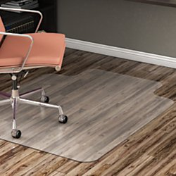 Superior Realspace(R) Hard Floor Chair Mat, Wide Lip, 45in.W X