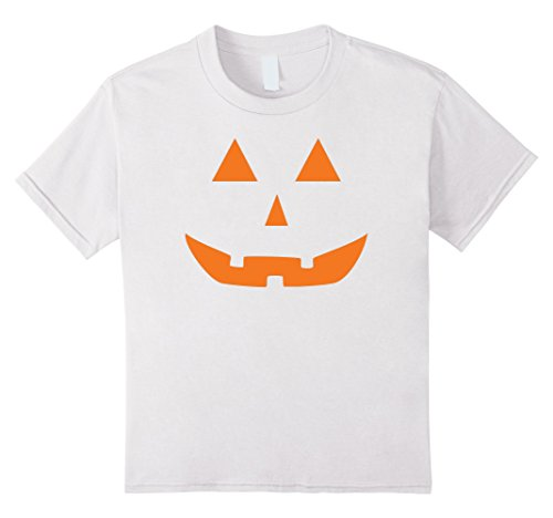 [Kids Jack O' Lantern Pumpkin Halloween Costume T-Shirt Funny 6 White] (Jack White Halloween Costume)
