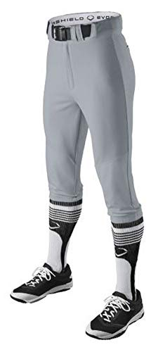 EvoShield Youth Throwback Knicker Uniform Pants, Blue Grey - Small ()