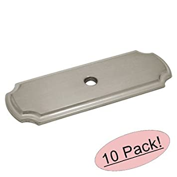Cosmas B 112SN Satin Nickel Cabinet Hardware Knob Backplate / Back Plate    10 Pack
