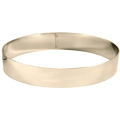 Matfer Bourgeat 371411 S/S 10-1/4 inch x 1-3/4 inch Mousse Ring