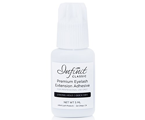 Infinit CLASSIC Eyelash Extension Glue, Black - Advanced Strong Bond Professional Grade Adhesive for Individual Lashes - Last 5-7 Weeks - Quick Dry 3-5 Seconds - Safe & Latex Free (5ML)