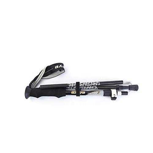 YAC Palo Plegable bastón Bastón de Senderismo, Extensible Anti-Choque Ultra Ligero Aleación de Aluminio Portátil caña,B