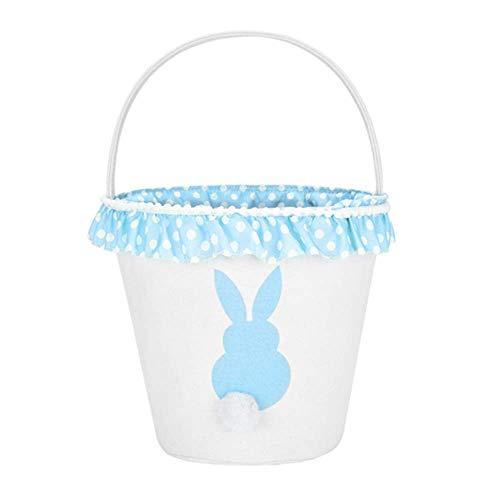H.Xin Easter Eggs Basket/Rabbit theme basket (Blue) ()