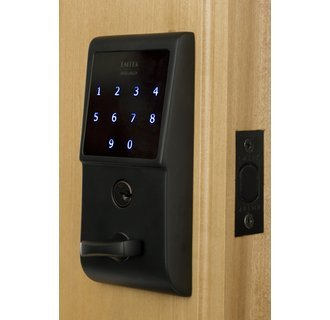 Emtek E3020 EMTouch Electronic Keypad Deadbolt from the Brass Modern Collection, Flat Black ()