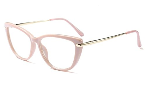 40d1859e334f BuyWorld CCSPACE Ladies Cat Eye Glasses Frames Women Red Pink Optical  Eyeglasses Fashion Prescription Eyewear Computer Glasses 45366  Amazon.in   Amazon.in