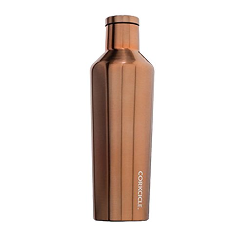 Corkcicle Canteen - Water Bottle and Thermos - Keeps Beverages Cold for Over 25, Hot for Over 12 Hours - Triple Insulated with Shatterproof Stainless Steel Construction - Copper - 16 oz.