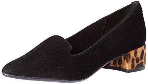 Anne Klein Women's Kimbra Pump, Black Suede, 6.5 M US