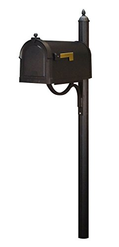 Special Lite Berkshire Curbside Mailbox with Richland Mailbox Post - Black by Special Lite Products Company, Inc.