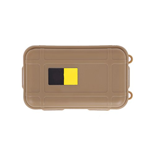 Easydeal Outdoor Shockproof Waterproof Airtight Survival Small Storage Container Carry Box (Coffee)