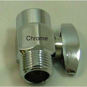 Brass Flow Control Valve - Chrome Finish