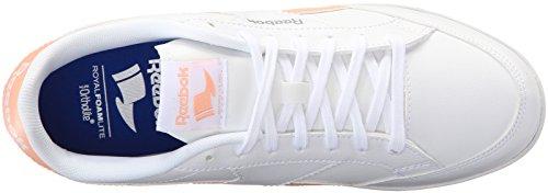 Reebok Womens Royal Transport S Fashion Sneaker Bianco / Desert Stone / Tin Gr