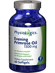 Physiologics - Evening Primrose Oil 1300 mg 60 Softgels [Health and Beauty]