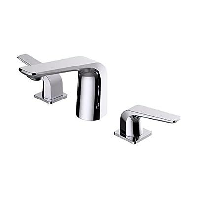 BAI 0646 Two Handles Contemporary Lavatory / Bathroom Faucet / Polished Chrome