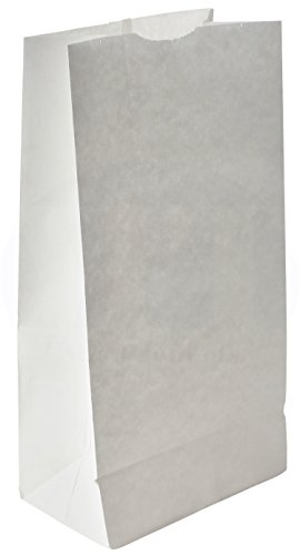 Grocery/Lunch Bag, Kraft Paper, 8 lb Capacity, (100 Count) (White Grocery Paper Bag)